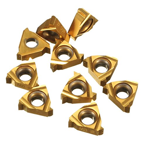 10pcs 11IR A60 Carbide Inserts Internal Threading Insert for Turning Tool Holder Boring Bar