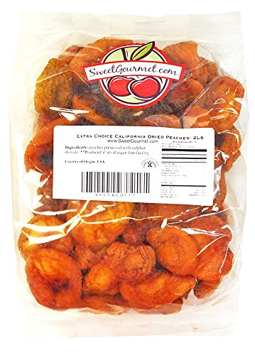 Fancy Dried Fruits- Sun Dried California Peaches. 2 lbs (Sun Dried Fruits)