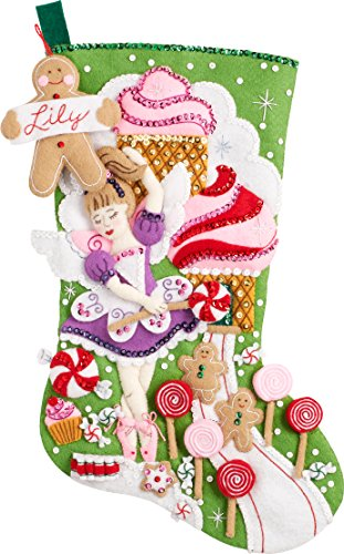 Bucilla 86714 Sugarland Fairy Stocking Kit by Bucilla