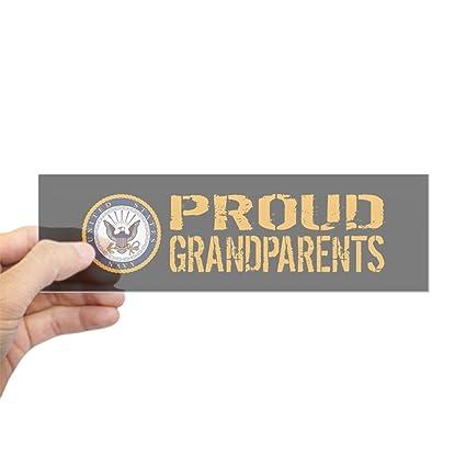 Cafepress u s navy proud grandparents bl 10x3 rectangle bumper