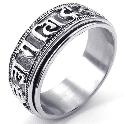 stainless-steel-rings-mens-bands-tibet-padme-hum-spinner-om-mani-black-silver-epinki
