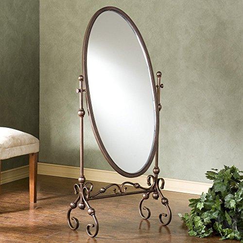 51XNWCXH7xL - Lourdes Full Length Metal Cheval Mirror - 24W x 56.75H in.
