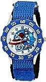 Marvel Kids' The Avengers Captain America W001538 Analog Display Analog Quartz Blue Watch