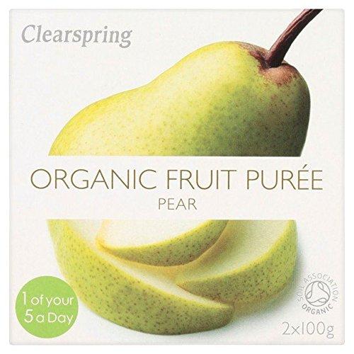 Clearspring Organic Pear Puree - 2 x 100g (Puree Pear)