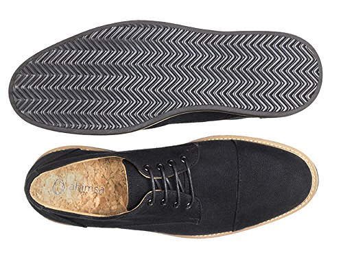 Ahimsa Mens William Vegan Oxford Svart