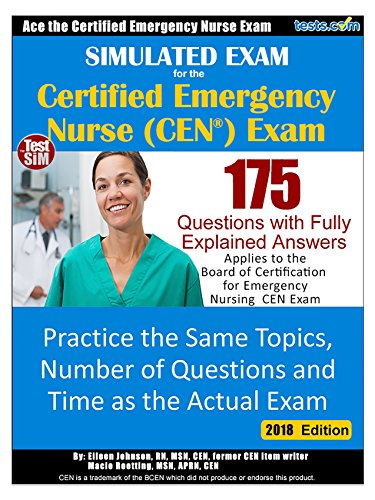 Simulated Exam CEN Certified Emergency ebook product image