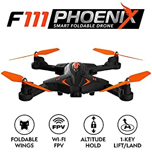 Force1 Foldable Drone with Camera Live Video with 720p HD Drone Camera Altitude Hold and 1 Key Control Quadcopter from Force1