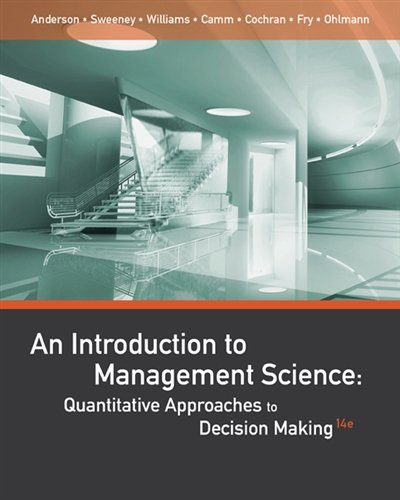 An Introduction to Management Science: Quantitative Approaches to Decision - Jersey Stores Gardens Hours