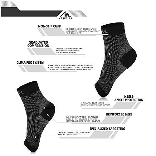 NEWZILL Calcetines con Soporte 24/7 Mangas de compresión, Soporte para el Tobillo: Amazon.es: Deportes y aire libre