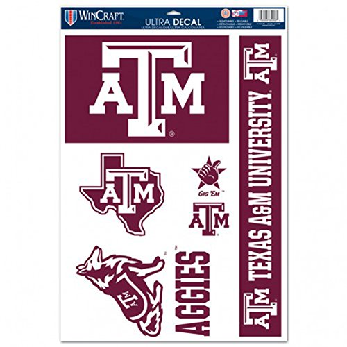 WinCraft Texas A&M Aggies Ultra Decal - 11'' X 17''
