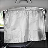 Car Curtains 2 pcs 27.6'' x 20.5'' Universal Auto Side Window Curtain With Suction Cup Drapes Car Sunshade UV Protection