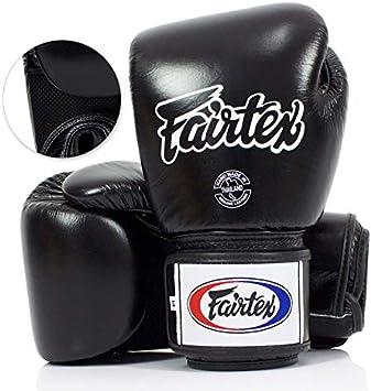Fairtex Muay Thai Boxing BGV1-B Black Breathable Gloves