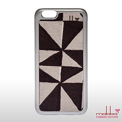 mabba Hülle Leder La Crazy Bonita für Apple iPhone 6 silber