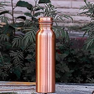 Unicop Copper,Pure Copper Bottle, Lacquer Engraved & Antique Design, No Joint, 100% Pure Copper Bottle, Copper Bottle…