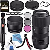 Sigma 100-400mm f/5-6.3 DG OS HSM Contemporary Lens for Canon EF 729954 + 67mm 3 Piece Filter Kit + 67mm Macro Close Up Kit + 128GB SDXC Card + Lens Pen Cleaner + Fibercloth + Lens Capkeeper Bundle