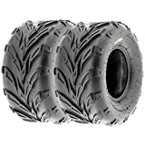 SunF 16x8-7 16x8x7 ATV UTV A/T Sport Trail Replacement 6 PR Tubeless Tires A004, [Set of 2]