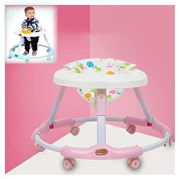 LJXWYQ Andador para bebé,con 6 Ruedas silenciosas,Evite ...