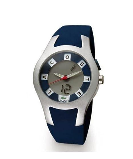 Lacoste 2700A 26 - Reloj analógico - digital de caballero de cuarzo con correa de silicona