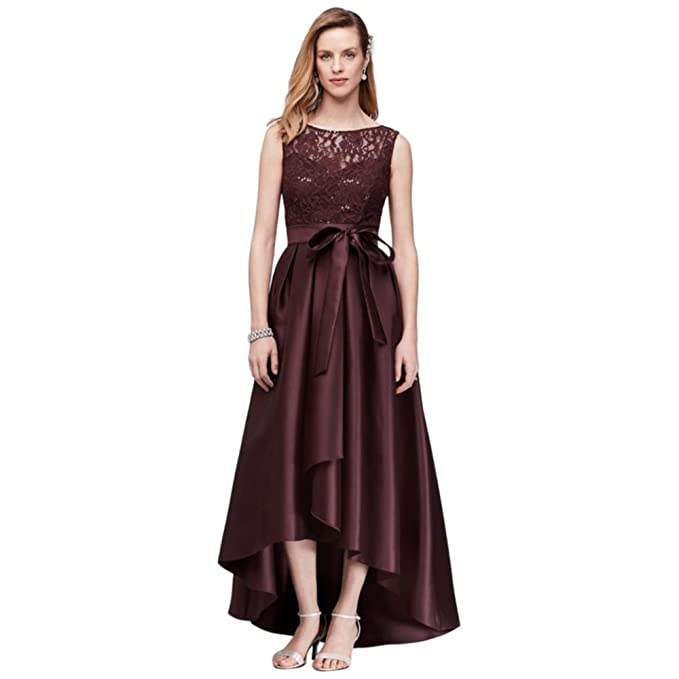 2b42a6d2 Sequin Lace Mother of Bride/Groom Dress with Mikado Skirt Style 3552DB,  Wine,