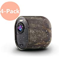 Arlo Ultra Skin, Indoor/Outdoor Silicone Skins Protective Case Cover for Arlo Ultra 4K UHD Wire-Free Security Camera, Compatible for Arlo Ultra 4K Cameras Accessories (4 Pack, Camouflage)