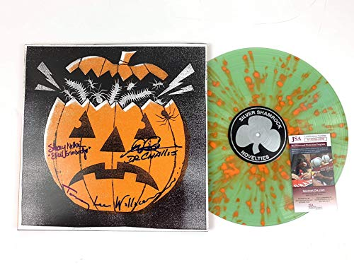 Tom Atkins Tommy Lee Wallace Stacey Nelkin Signed Halloween 3 Mondo H40 Vinyl Record JSA