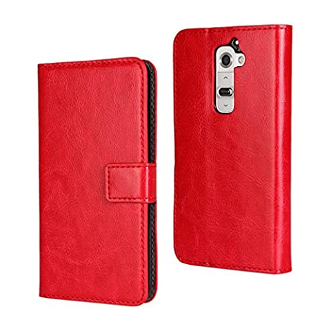 LG G2 Case [iCoverCase] Crazy Horse Pattern Leather Wallet Case [Card Slot] Folded Magnetic Clip [Book Fold] Kickstand Cover for LG G2 ( D800,D802,D801,D802TA,D803,VS980,LS980 ) (Lg G2 Phone Case Magnetic)