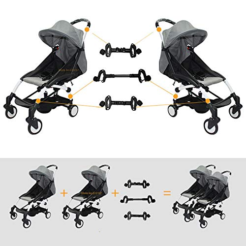 Universal Stroller Connectors, Turn 2 Strollers into an Instant Tandem Stroller, Fits Most Strollers