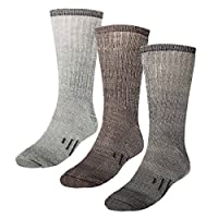 3 Pairs Thermal 80% Merino Wool Socks Thermal Hiking Crew Winter Men's Women's Kid's