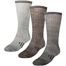 3 Pairs Thermal 80% Merino Wool Socks Thermal Hiking Crew Winter Men's Women's Kid's