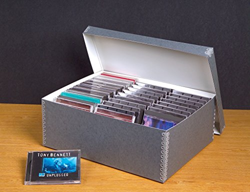 Gaylord Archival Blue/Grey High-Capacity CD Storage Box ()
