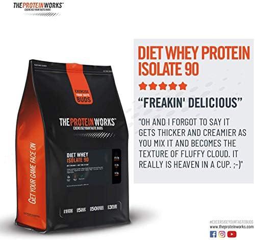 Proteína Whey Diet Isolate 90   Sin sabor   500 g de Aislado de ...