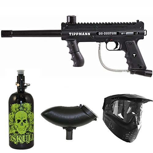 Tippmann 98 Custom PS Paintball Marker Gun 3Skull N2 Package Review