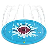 Jasonwell Sprinkle & Splash Play Mat 68'' Water Toys Fun for Children Toddlers Boys Girls Kids Outdoor Party Sprinkler Splash Pad (Blue)