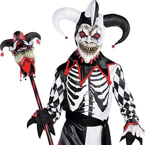 Amscan Boys Sinister Jester Costume - X-Large (14-16), Black - Jester Kids Costume