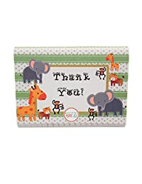 Adorox Baby Jungle Zoo Animals THANK YOU Cards Baby Shower Birthday Party Safari Theme Boys Girls (48 Pcs. Set)