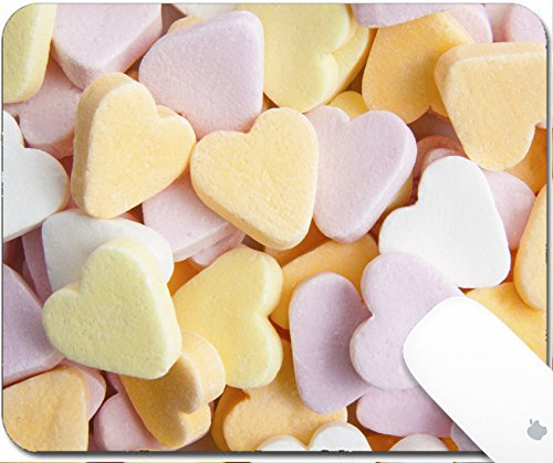 Luxlady Gaming Mousepad 9.25in X 7.25in IMAGE: 34327007 Colorful sweet hearts on a pile for background use