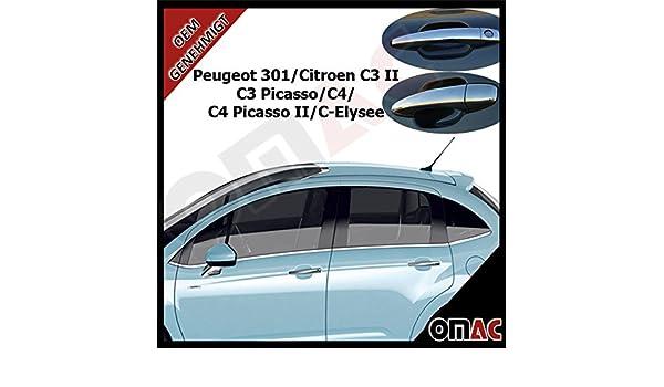 Peugeot 301 Citroen C3 II C3 Picasso C4 C4 Picasso II C de Elysee Puerta asas paneles: Amazon.es: Coche y moto