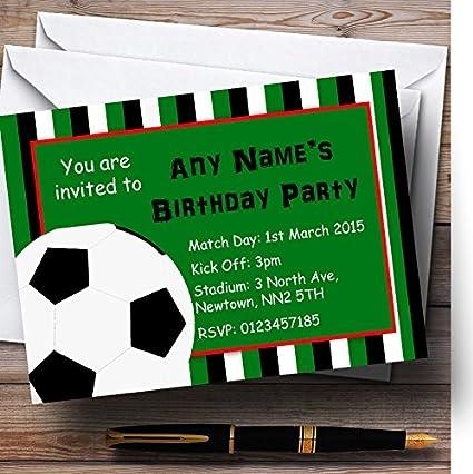 Rayas de fútbol personalizado invitaciones para fiesta de ...