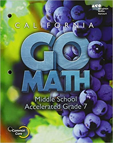 Holt Mcdougal Go Math Student Interactive Worktext Accelerated 7