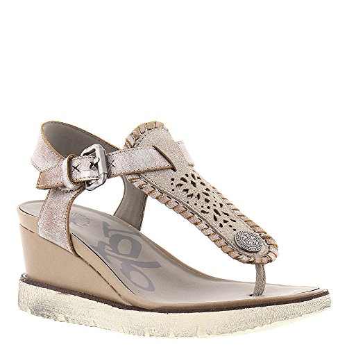 Silver Sandal Wedge Leather Women's Grey Thong OTBT Excursion xqYPFw1
