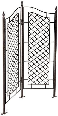 H Potter grandes enrejado de hierro forjado dos Panel Ivy Jardín ...