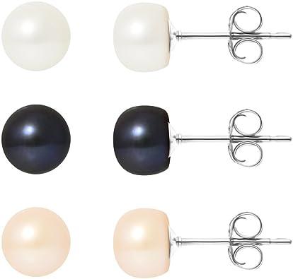 Qualit/é AAA 8 /Pr/ésent/é dans u 9/mm Ellena perle collier bracelet et boucles doreilles bijoux Set avec fermoirs magn/étique Choix de 40,6/cm 45,7/cm 50,8/cm diff/érence longueurs/