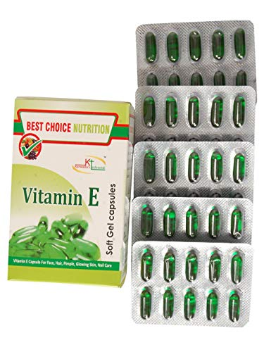 Best Choice Nutrition Pure Vitamin E Capsule Face Hair Pimple Glowing Skin Nail Care for beautiful skin, healthy hair…