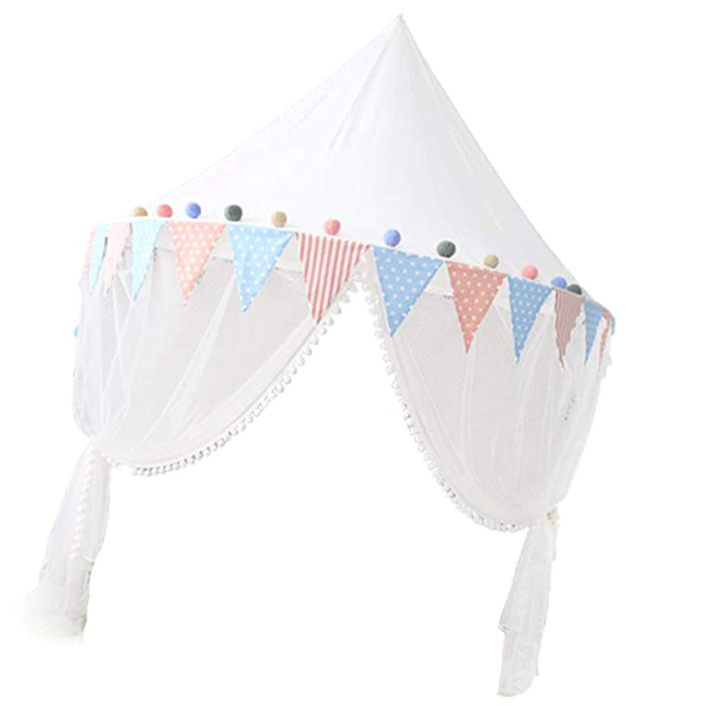D DOLITY Kids Bed Canopy With Mosquito Netting Hanging Play Tent Reading Corner - Small 43inch x 20inch