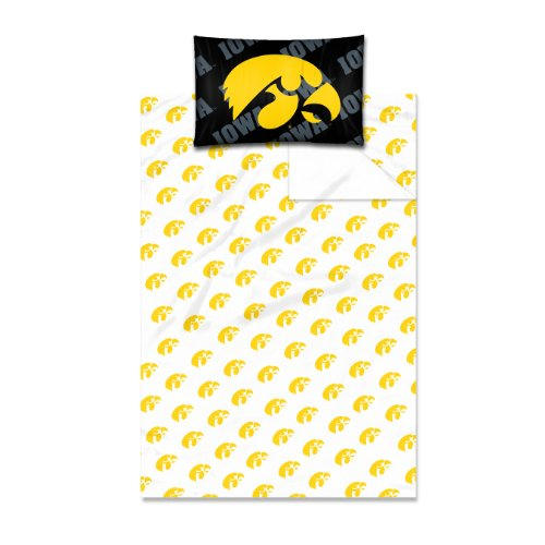 Iowa Hawkeyes Throw Pillow (Officially Licensed NCAA Iowa Hawkeyes Twin Sheet Set)