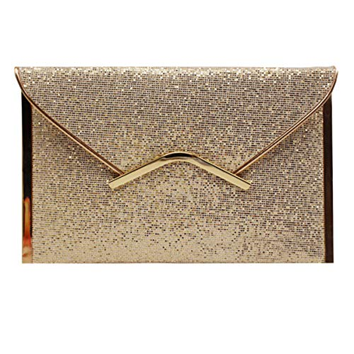 Glitter 1 Gold Party Purse Handbag Evening Meliya Envelope Clutch Women's Bling Prom Bag Sequin WTw7qqYO