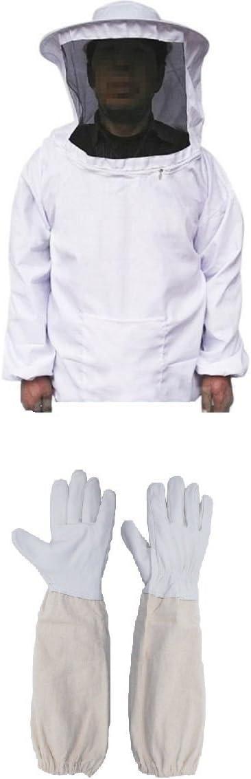 4 in 1 Set Beekeeping Equipment Veil Suit Bee Brushes Gloves Hook Hive   ❤