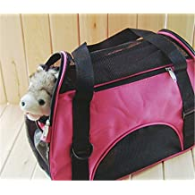 Denshine® Breathable Oxford Pet Carry Bag Dog Cat Puppy Pet Carrier Soft Cosy Travel Carry Carrier Tote Case Cage Tent Bag Pet Carrie Foldable Airline Approved Pink