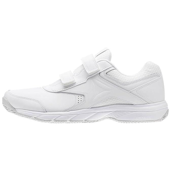 Reebok Work N Cushion 3.0, Zapatillas de Marcha Nórdica para Hombre, Blanco (White/Steel 0), 48.5 EU