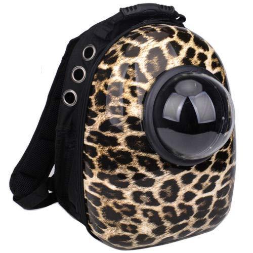 1  Leopard Bubble Pet Carriers FidgetGear Pet Portable Carrier Space Capsule Backpack Bubble Pet Carriers Traveler Bag 1  Leopard Bubble Pet Carriers